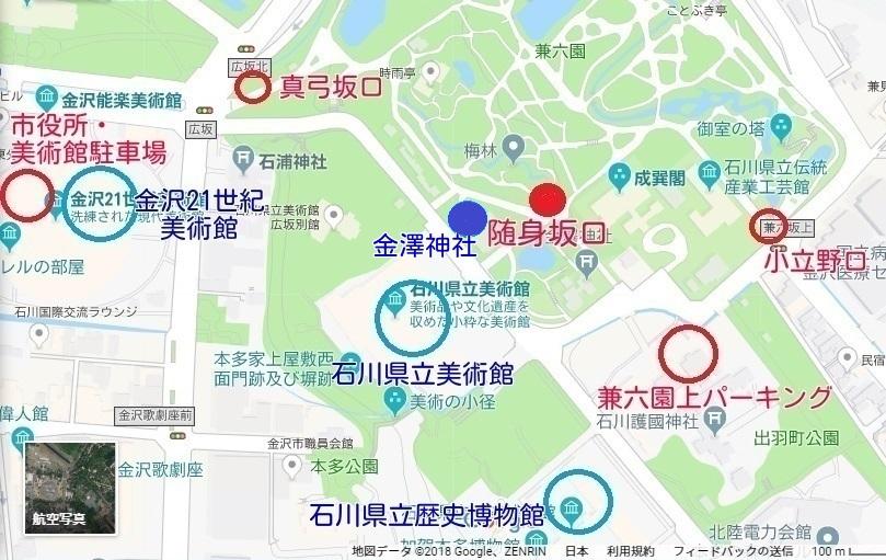 金澤神社の地図