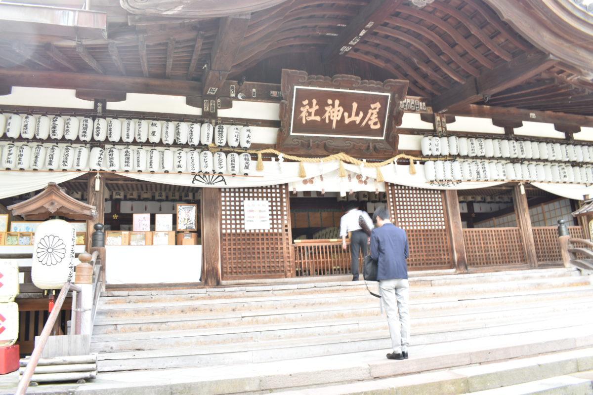 尾山神社への参拝者