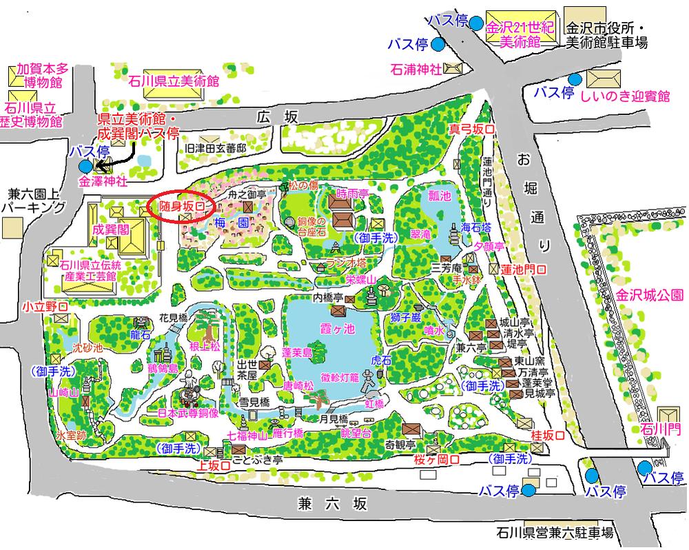 随身坂口の地図